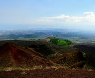 The visitors centre on Mount Etna royalty free stock photos