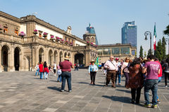 Visitors at Chapultepec Castle in Mexico City Stock Images