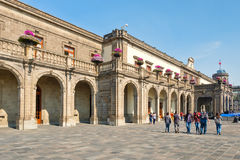 Visitors at Chapultepec Castle in Mexico City Royalty Free Stock Image