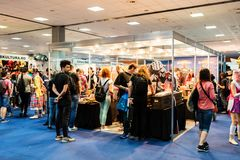 Visitors checking products at EECC 2017 Stock Photos