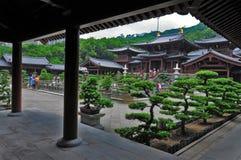 Visitors at chi lin nunnery hong kong Stock Photo