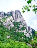 Visitors Climb Huangshan Yellow Mountain at Anhui Province China stock images