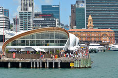 Visitors at The Cloud in Auckland waterfront, New Zealand Stock Photo