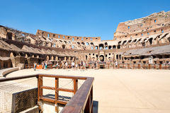 Visitors at the Colosseum in Rome on a sunny summer day Royalty Free Stock Photography