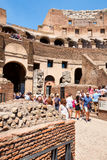 Visitors at the Colosseum in Rome on a sunny summer day Stock Photos