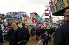 Visitors at a County fair, Sweden Royalty Free Stock Photos