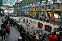 Visitors in Covent Garden markets in London, UK Royalty Free Stock Images