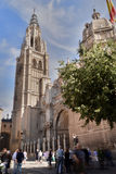 Visitors crowding Cathedral of Toledo Spain Stock Photos