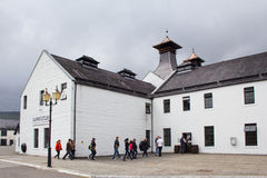 Visitors at Dalwhinnie distillery royalty free stock photos