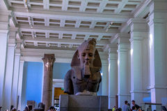 Visitors in Egypt Hall of the British Museum. Royalty Free Stock Photography
