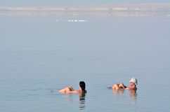 Visitors in Ein Bokek resort at the Sead Sea, Israel Stock Photo