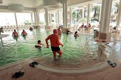 Visitors in Ein Bokek resort at the Sead Sea, Israel Stock Images