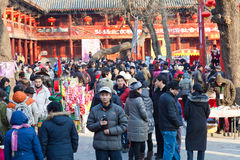 Visitors enjoy the Spring Festival Temple Fair Stock Images