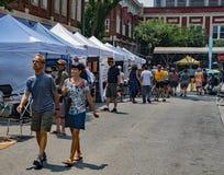 Visitors at the 61th Annual Sidewalk Art Show, Roanoke, VA stock photo