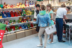 Visitors and exhibitors visiting the stands and exhibits at the. RUSSIA, MOSCOW - June 14, 2016: Visitors and exhibitors visiting the stands and exhibits at the Royalty Free Stock Images