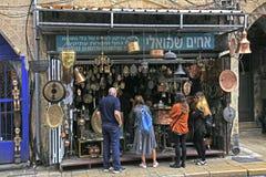 Visitors on The Flea Market, Tel Aviv, Israel.