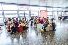 Visitors at the Frankfurt Book Fair 2014 Royalty Free Stock Photo