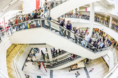 Visitors at the Frankfurt Book Fair 2014 Stock Photo