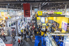 Visitors at the Frankfurt Book Fair 2014 Royalty Free Stock Images