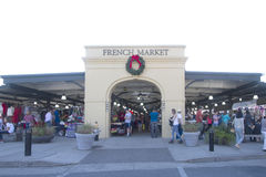 Visitors  at French market  New Orleans Stock Photo