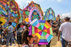 Visitors at Giant kite festival, All Saints' Day, Guatemala Stock Images