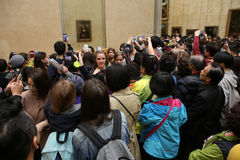 Visitors in the great gallery, The Louvre, Paris, France Royalty Free Stock Photography