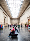 Visitors in Greece's art exhibition at The British Museum Stock Photography