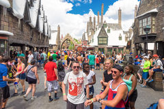 Visitors in the Harry Potter area at Universal Studios Islands o Royalty Free Stock Image