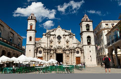 Visitors at the Havana Cathedral Stock Photos