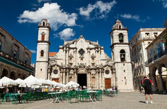 Visitors at the Havana Cathedral Royalty Free Stock Image