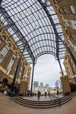 Visitors in Hays Galleria, London. LONDON, ENGLAND - NOVEMBER 27, 2017: Visitors in Hays Galleria. A popular tourist attraction complex of restaurant and shops Stock Photo