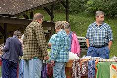 Visitors at the Heritage Festival. 32nd Brethren Heritage Celebration, Fincastle, VA – October 1st: Visitors shopping for bargains at the Heritage Day stock images