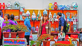 Visitors at hong kong flower show Stock Image