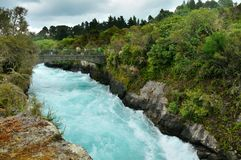 Visitors at Huka Falls, Taupo. New Zealand royalty free stock image