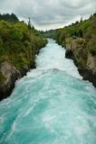 Visitors at Huka Falls, Taupo. New Zealand royalty free stock images