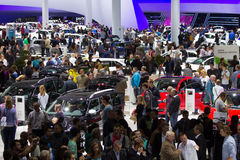 Visitors at the IAA motor show Stock Images
