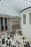 Visitors Inside the British Museum main Hall Royalty Free Stock Photos
