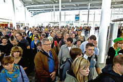 Visitors at the International Fair Photokina in Cologne Royalty Free Stock Images