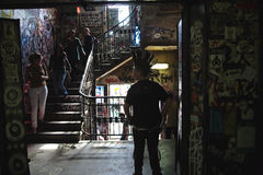 Visitors in Kunsthaus Tacheles in Berlin Royalty Free Stock Photos