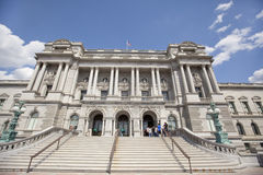 Visitors in the  Library of Congress in Washington D.C. Stock Photography