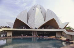 Visitors at The Lotus Temple Stock Image