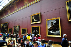 Visitors at the Louvre Royalty Free Stock Photography