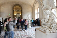 Visitors at the Louvre Museum, May 3, 2013 in Par Stock Photos