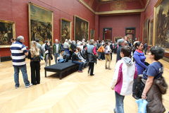 Visitors at the Louvre Museum, May 3, 2013 in Par Royalty Free Stock Image