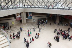 Visitors at the Louvre Museum, May 3, 2013 in Par Royalty Free Stock Photo