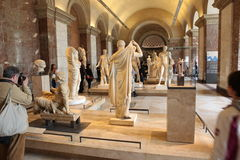 Visitors at the Louvre Museum, May 3, 2013 in Par Royalty Free Stock Images