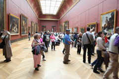 Visitors at the Louvre Museum, May 3, 2013 in Par Stock Images