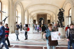 Visitors at the Louvre Museum, May 3, 2013 in Par Royalty Free Stock Photos