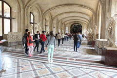 Visitors at the Louvre Museum, May 3, 2013 in Par Stock Photography