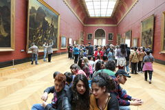 Visitors at the Louvre Museum, May 3, 2013 in Par Stock Image